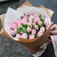 Букет 31 пионовидный розовый тюльпан R026